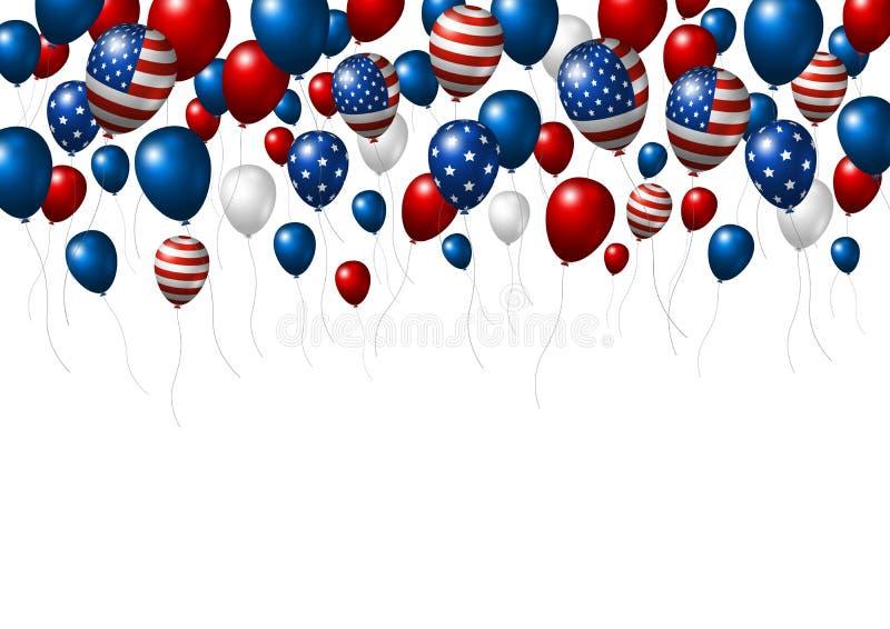 USA or America balloon design of American flag royalty free illustration