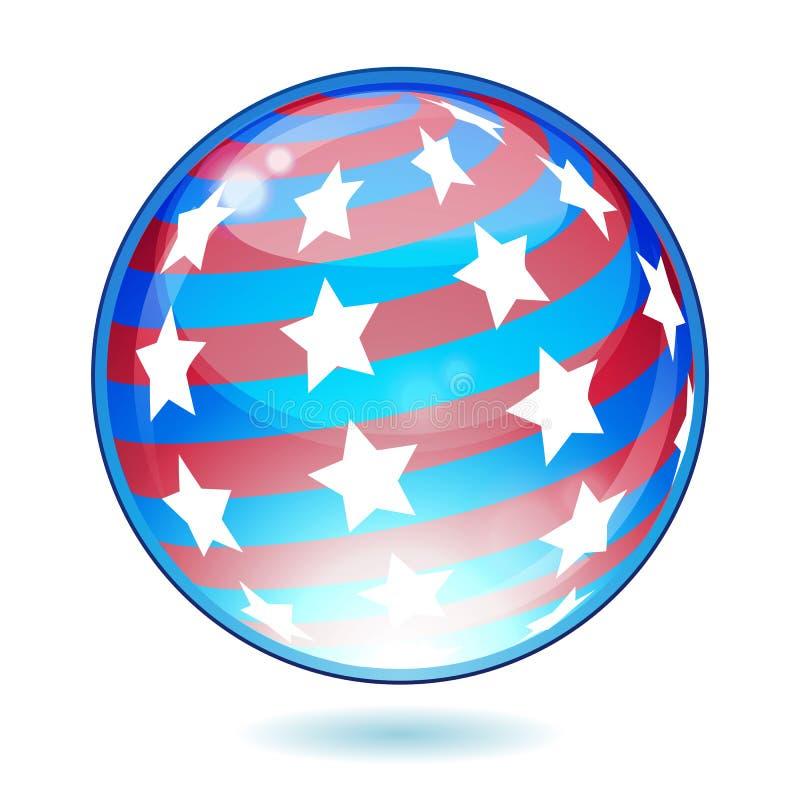 USA America Shiny Button Flag Royalty Free Stock Photography