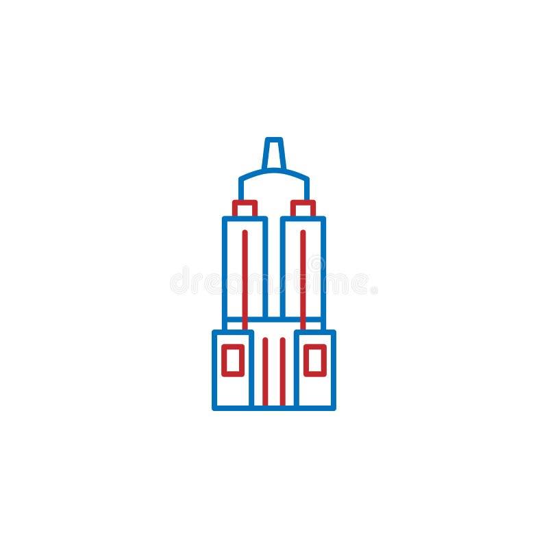 USA, America, skyscraper icon. Element of USA culture icon. Thin line icon for website design and development, app development. Premium icon on white royalty free illustration