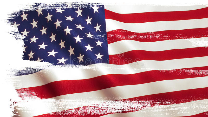 USA American Flag royalty free illustration