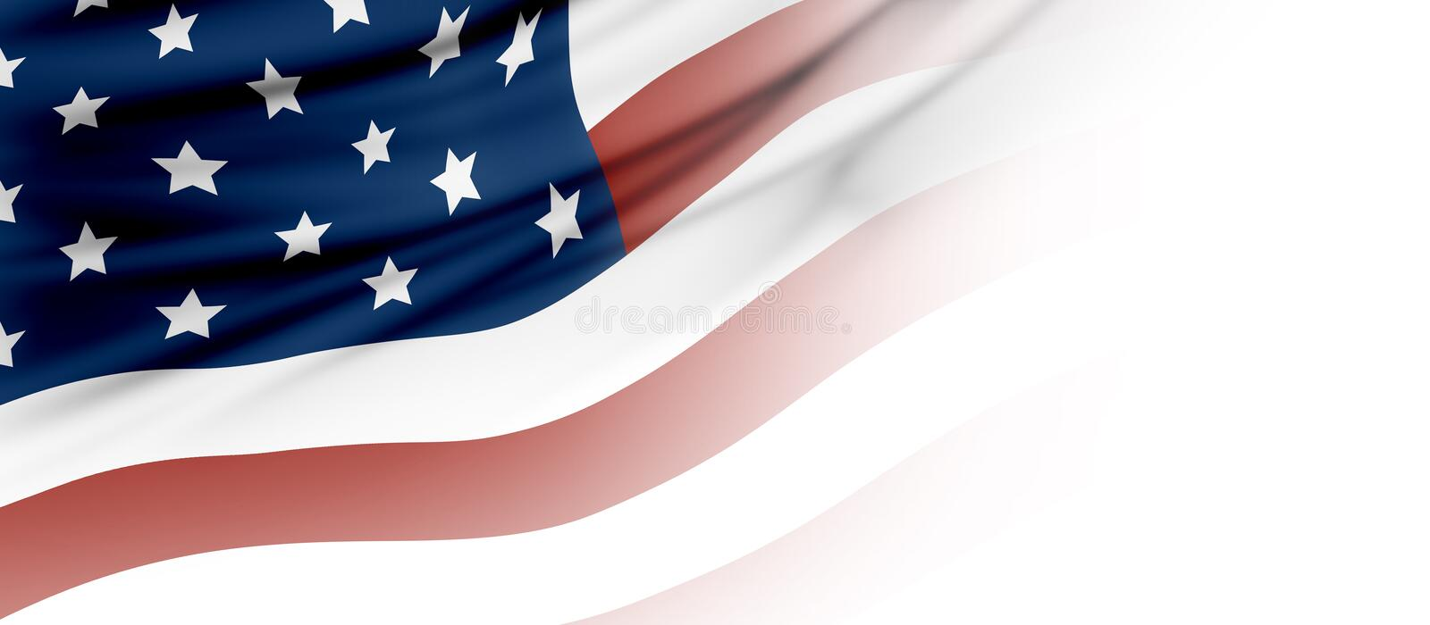 USA or American flag background with copy space stock illustration
