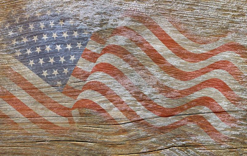 USA, American flag painted on old wood stock images