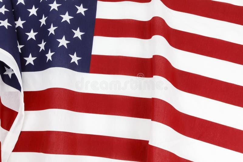 American flag waving display royalty free stock photos