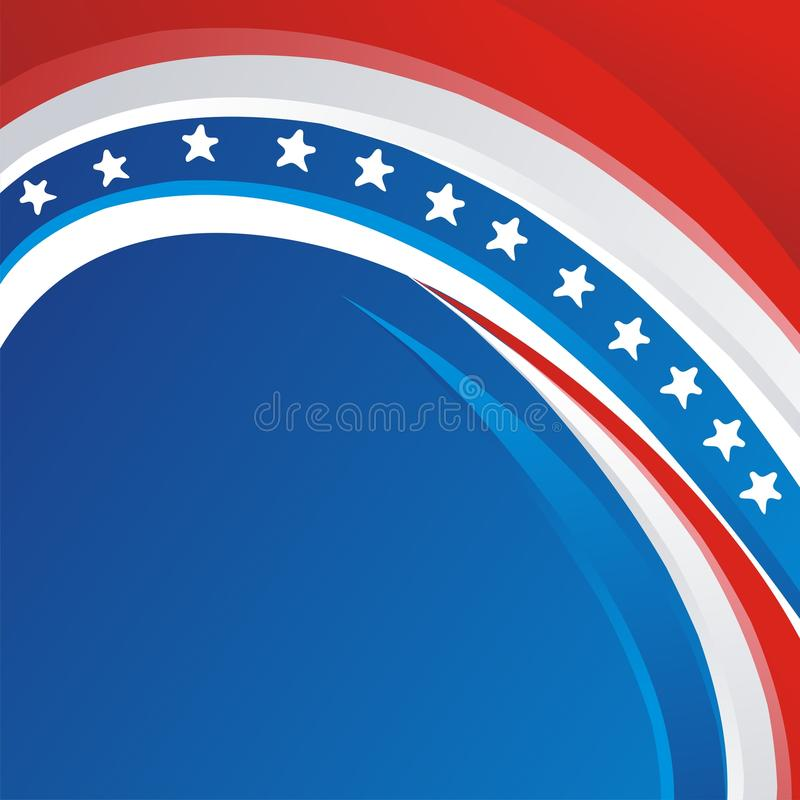USA - American flag Vector background, new and modern design stock illustration