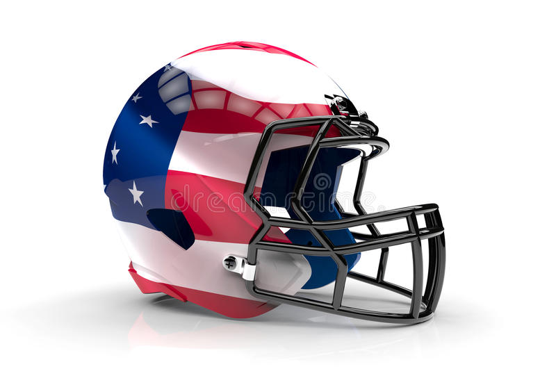 USA american football helmet. On a white background royalty free illustration