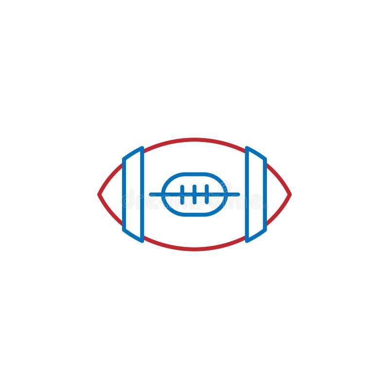 USA, American football icon. Element of USA culture icon. Thin line icon for website design and development, app development. Premium icon on white background vector illustration