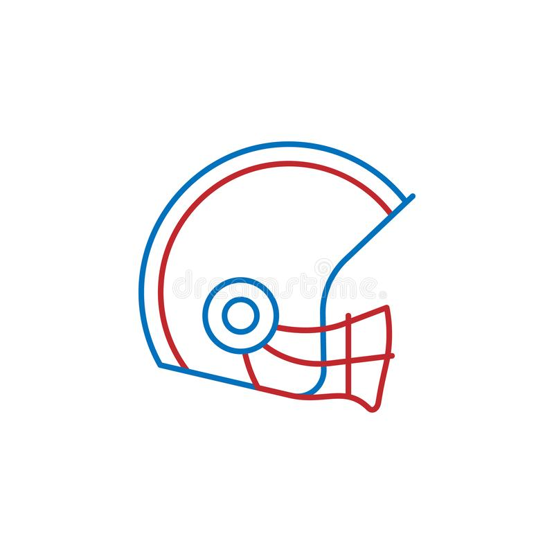 USA, american football icon. Element of USA culture icon. Thin line icon for website design and development, app development. Premium icon on white background stock illustration