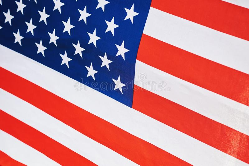 USA american national flag as a background, close up royalty free stock photography