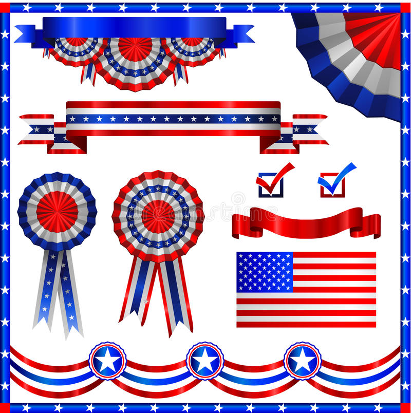 USA american patriotic elements vector illustration