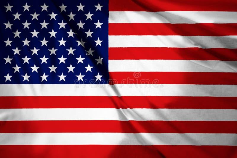 USA amerikanska flaggan Amerika 4th, gjort randig arkivbild