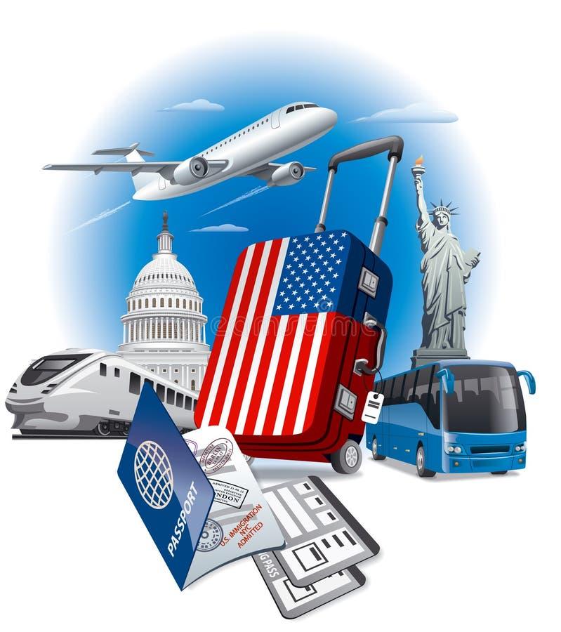 USA amerykanina punkty zwrotni royalty ilustracja