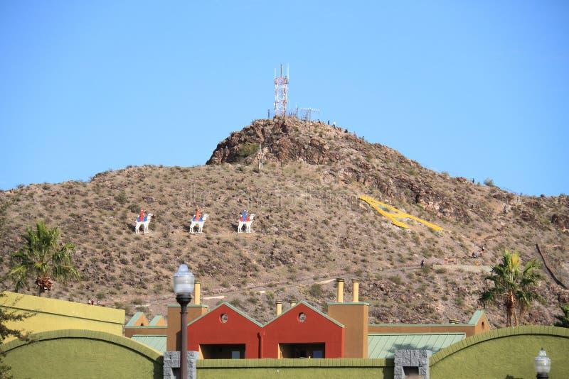 USA, Arizona: Boże Narodzenia na Tempe Butte zdjęcia royalty free