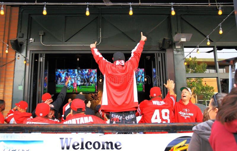 USA, Arizona: Fan Piłki Nożnej - lądowanie! obrazy stock