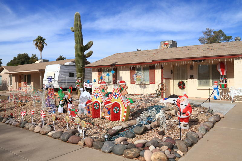 christmas cactus yard decoration