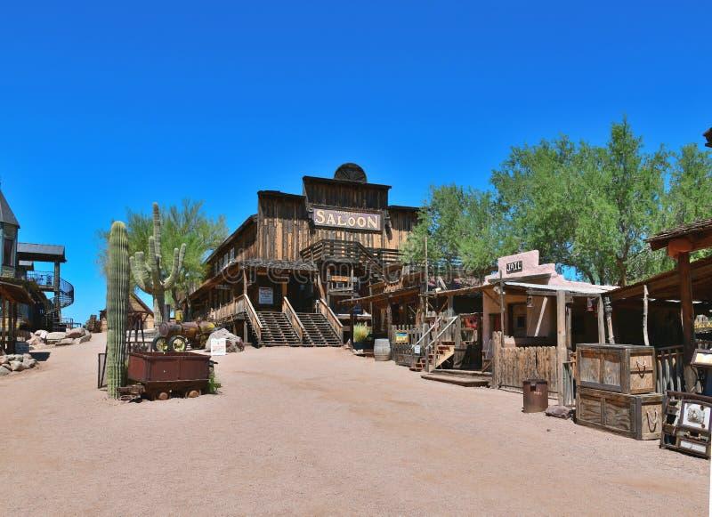 USA Arizona: Gammalt västra - Main Street av guldfältet arkivbilder