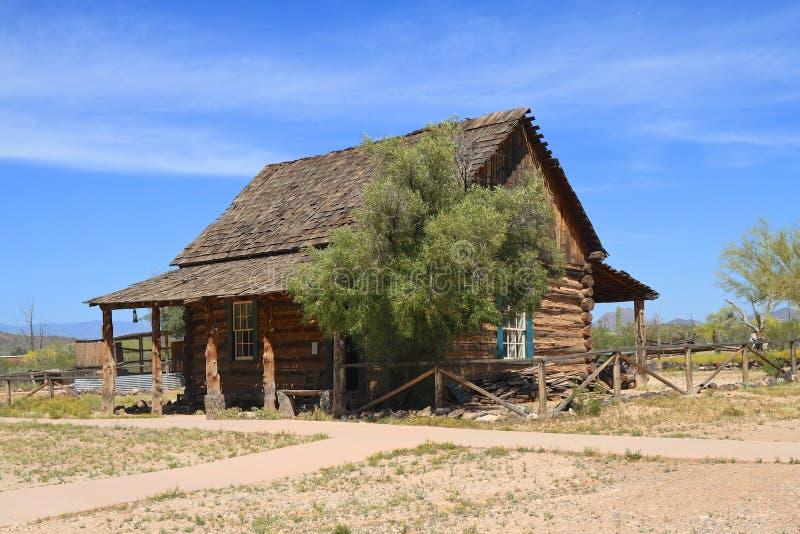USA Arizona: Gammalt västra - ranch av en nötkreaturbonde (1886) arkivfoto