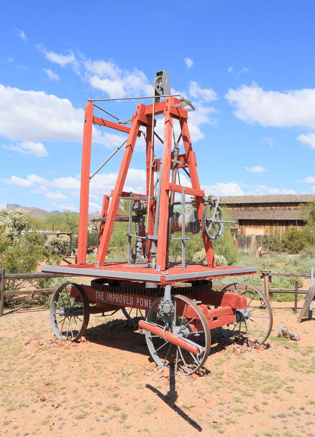 Old West: Boring & Drilling Machine (1903) stock photo
