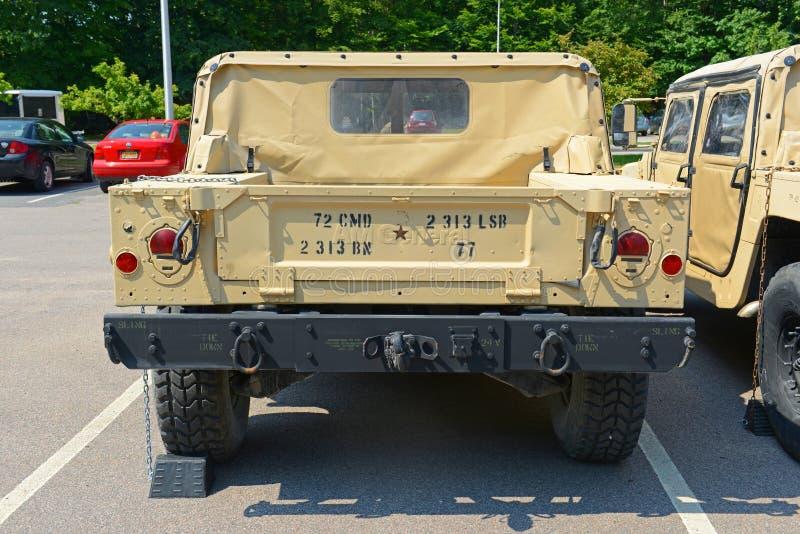 USA-armé Humvee i Potsdam, New York, USA arkivbild