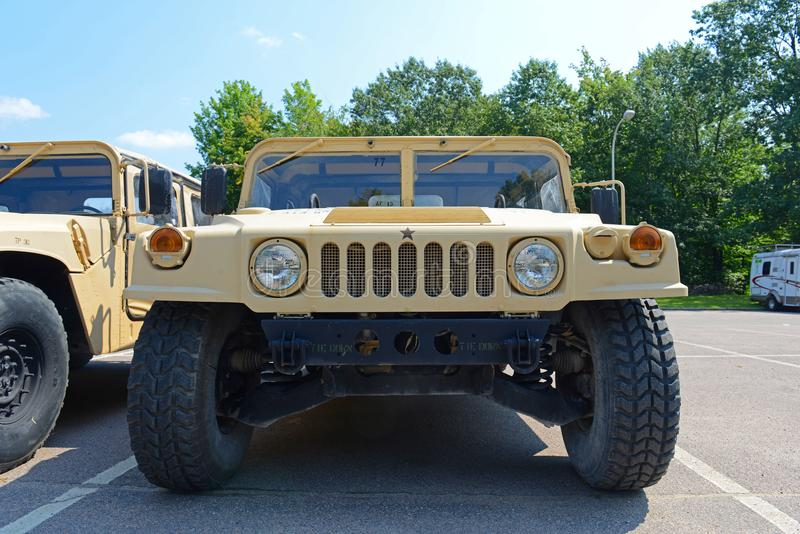 USA-armé Humvee i Potsdam, New York, USA fotografering för bildbyråer