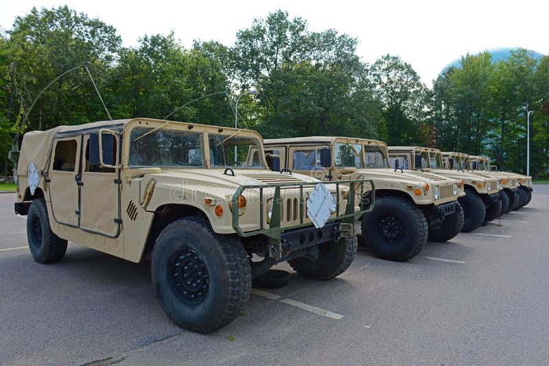 USA-armé Humvee i Potsdam, New York, USA arkivbilder