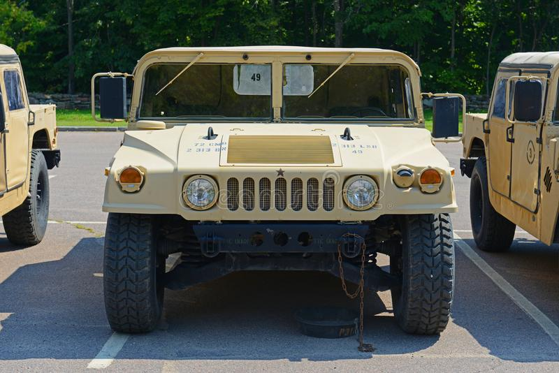 USA-armé Humvee i Potsdam, New York, USA arkivfoto