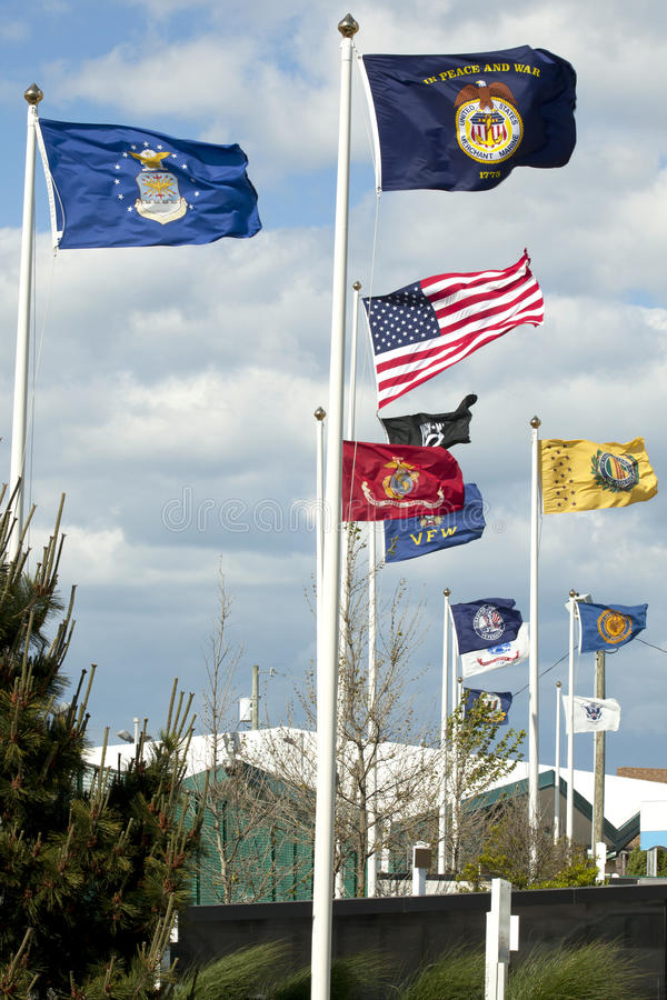 Free USA Arm Forces And Vetrains Flags Royalty Free Stock Photography - 31213527
