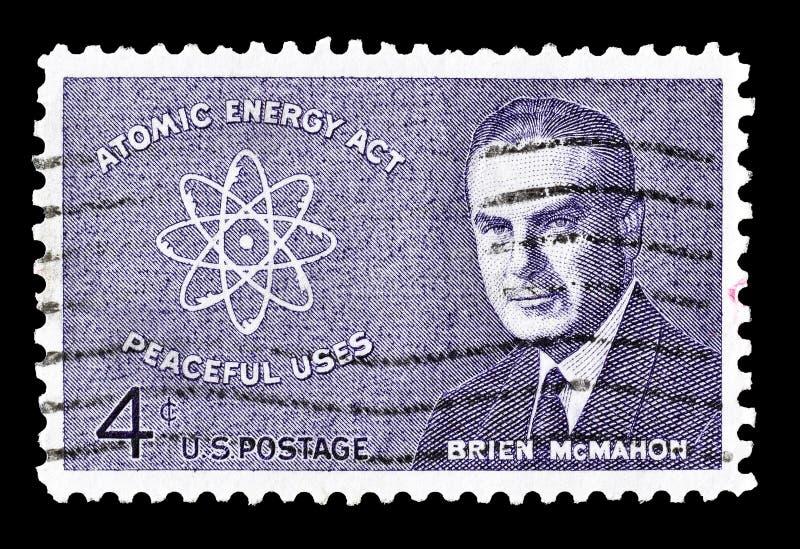 USA auf Briefmarke lizenzfreie stockfotografie