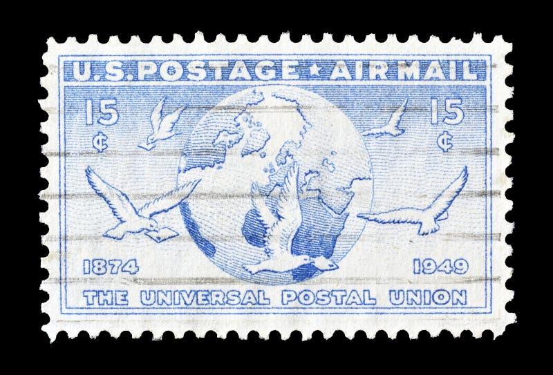 USA auf Briefmarke lizenzfreies stockfoto