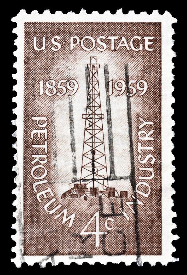 USA auf Briefmarke stockbilder
