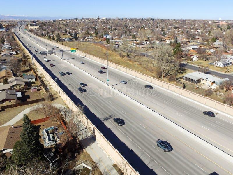 USA autostrada 36 w Denver fotografia royalty free