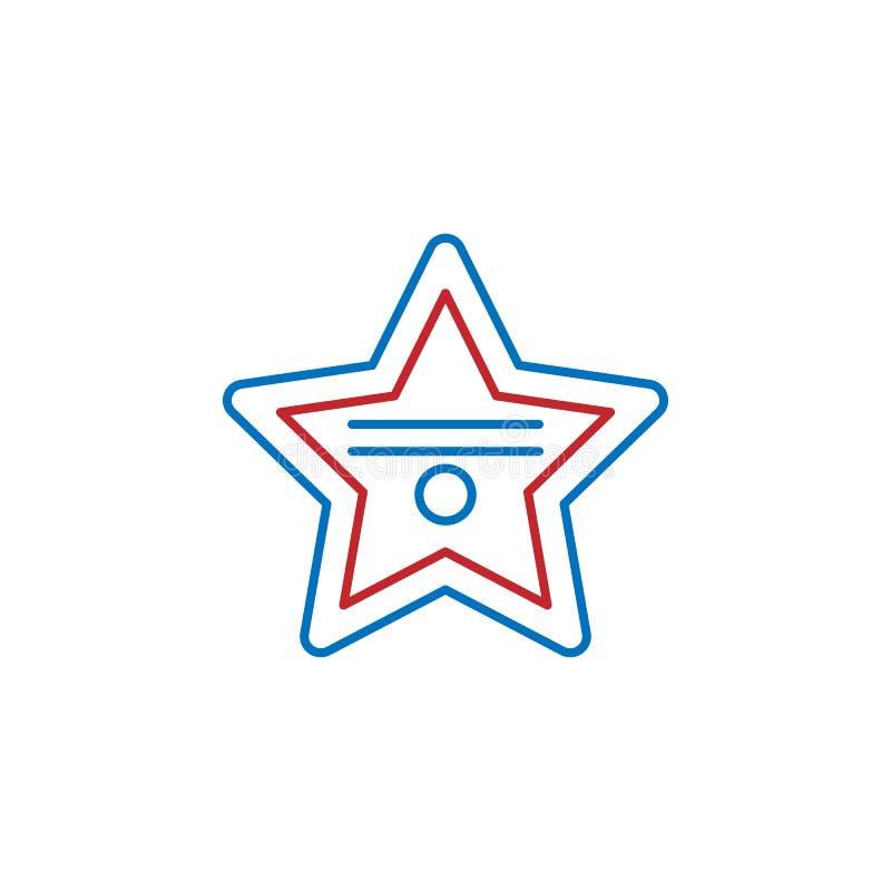 USA, award icon. Element of USA culture icon. Thin line icon for website design and development, app development. Premium icon. On white background stock illustration