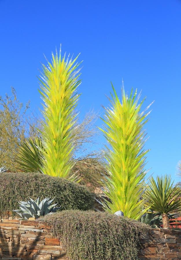 USA, Phoenix/Arizona: Chihuly Exhibit - Desert Towers, 2006 stock photo