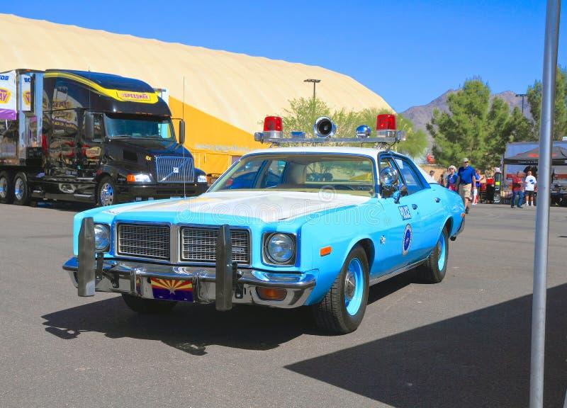 USA, AZ: Historic Patrol Car - 1976 Plymouth Fury stock photos