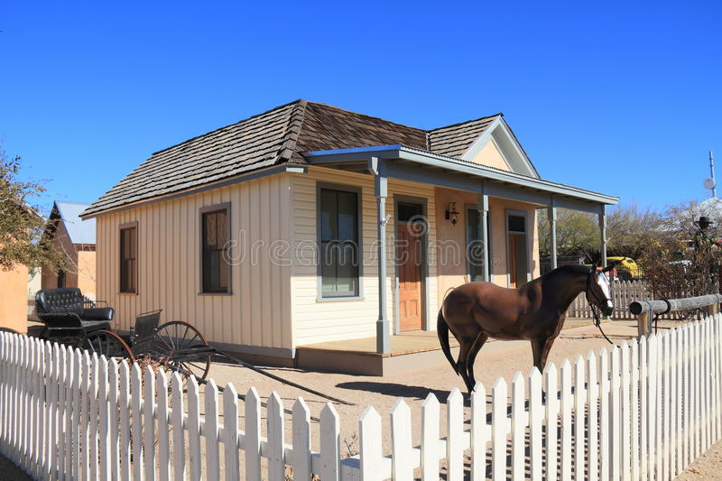USA, AZ/Tombstone: Old West - Wyatt Earp House. This is the restored house of Wyatt Earp on Fremont Street in Tombstone royalty free stock photography
