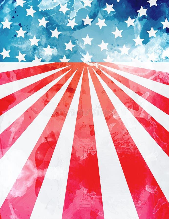 USA bakgrundsmall royaltyfri illustrationer