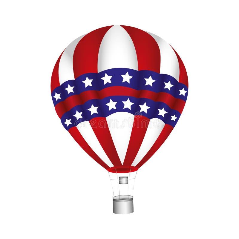 usa balonu powietrza gorąca podróż ilustracji