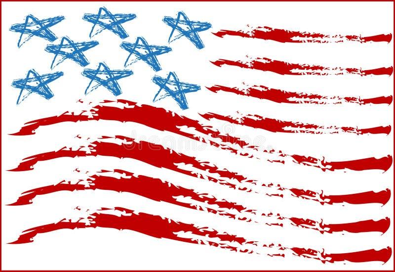 usa bandery ilustracji