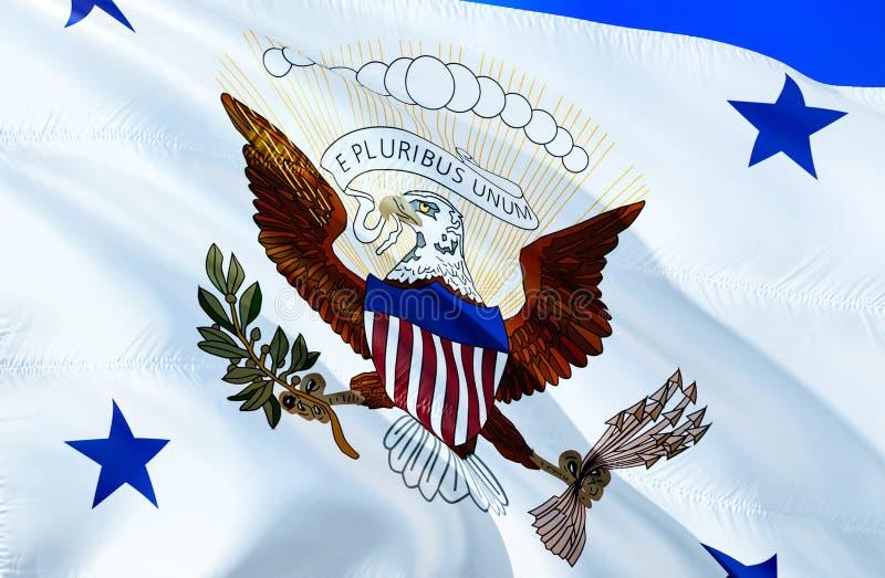 usa bandery 3D falowania flaga projekt Krajowy symbol usa, 3D rendering Rozpusta - prezydenta obywatel kolory Flaga państowowa us obrazy royalty free