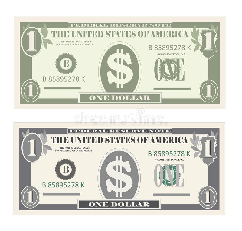 Free USA Banking Currency, Cash Symbol 1 Dollar Bill. Stock Photography - 90365622