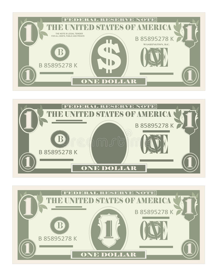 Free Usa Banking Currency, Cash Symbol 1 Dollar Bill. Royalty Free Stock Photos - 90365658