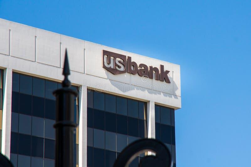 USA-bankkontorsbyggnad i Beverly Hills royaltyfri foto