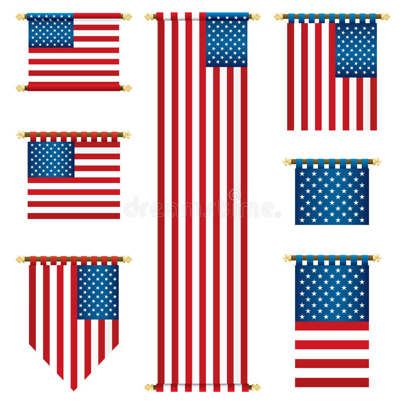 Free Usa Banners Royalty Free Stock Image - 23591306