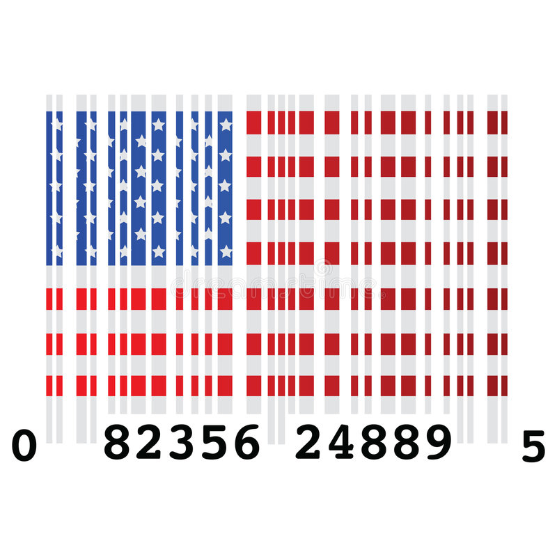 USA bar code royalty free illustration