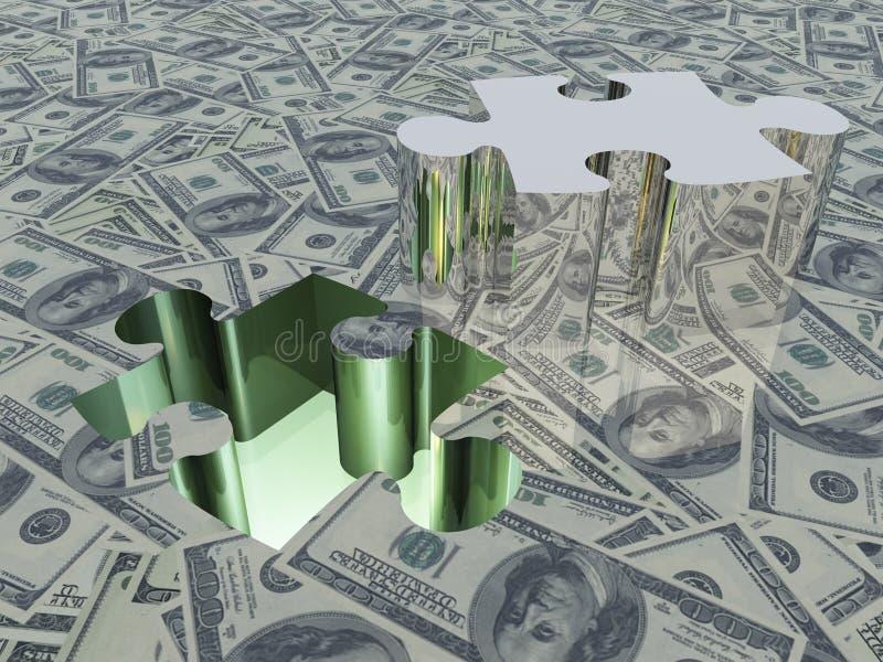 USA-Bargeld-Puzzlespiel vektor abbildung
