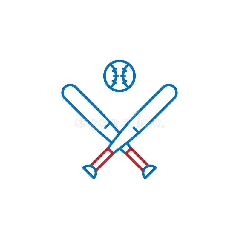 USA, baseball icon. Element of USA culture icon. Thin line icon for website design and development, app development. Premium icon vector illustration