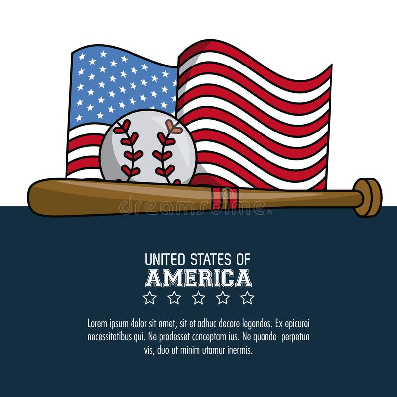 USA baseball sport game stock illustration