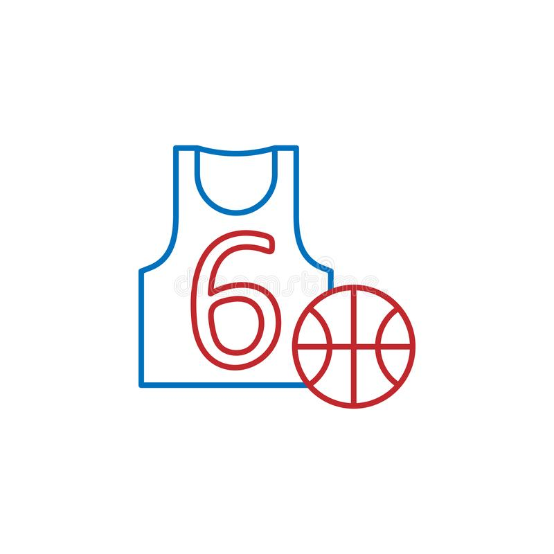 USA, basketball jersey icon. Element of USA culture icon. Thin line icon for website design and development, app development. Premium icon on white background stock illustration