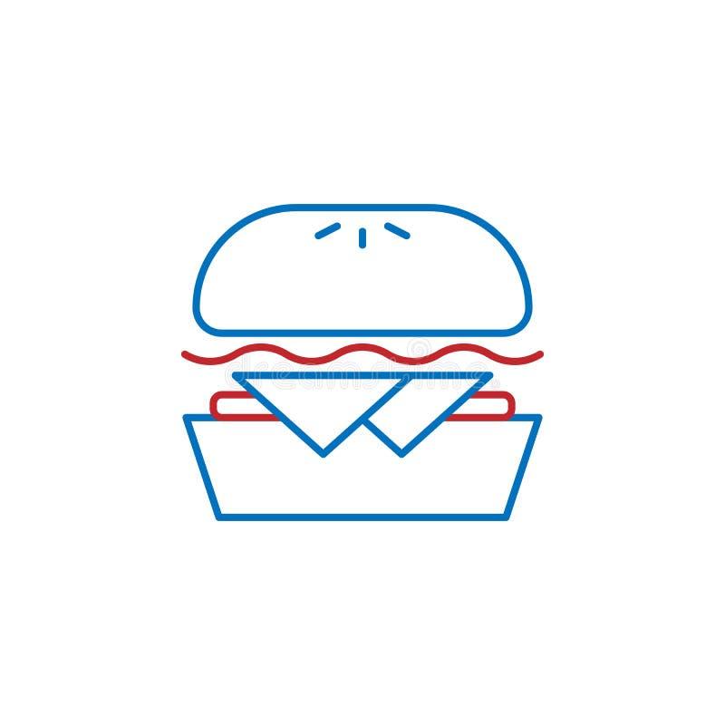 USA, beef icon. Element of USA culture icon. Thin line icon for website design and development, app development. Premium icon. On white background stock illustration