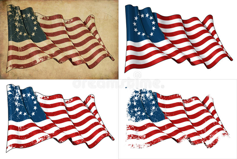 USA Betsy Ross Historyczna Flaga ilustracji