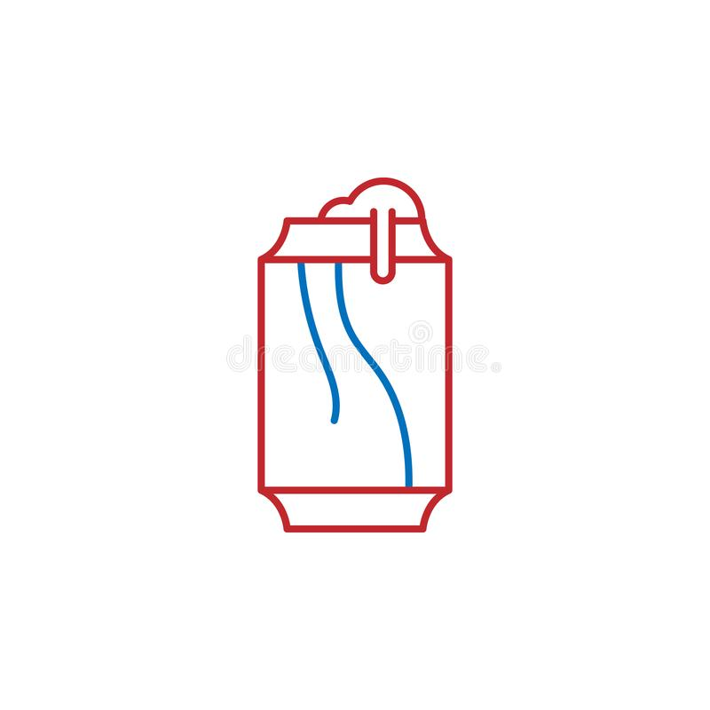 USA, beverage icon. Element of USA culture icon. Thin line icon for website design and development, app development. Premium icon. On white background royalty free illustration